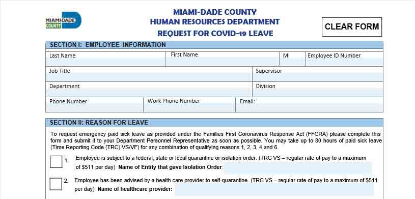 FFCRA COVID-19 REQUEST FORM V.2